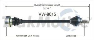 TrakMotive VW-8015 CV Axle Shaft For 90-02 Volkswagen Cabrio Golf Jetta Passat