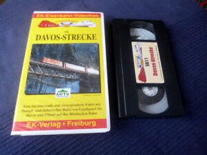 VHS EK Eisenbahn Davos-StreckeRhätische Bahn Landquart Filisur Klosters Landwass