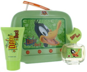 CS LOONEY TUNES DAFFY DUCK FIRST AMERICAN BRANDS SET IN GREEN TIN LUNCH BOX