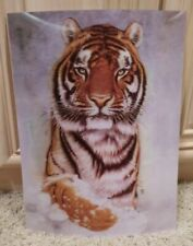MUST SEE; NEW; BENGAL TIGER IN SNOW 3D POSTER ART DECO; AMAZING GIFT 11.5 x 15.5