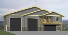 60x44 Apartment with 2-Car 2-RV Garage - PDF FloorPlan - 1,415 sqft - Model 1