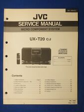 JVC UX-T20 System Service Manual Factory Original The Real Thing