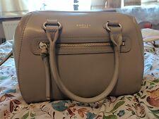 "Radley ""Whitechapel"" Dark Beige or Grey Leather Grab Bag Workbag Medium New"