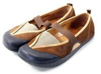 Earth Kalso Intrigue Moss Brown Leather Mary Jane Flats Shoes Women Size 7.5B