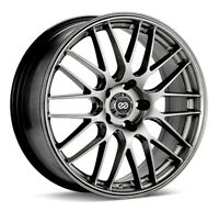 Set of 4 45 Enkei FD-05 5x114.3 Black Machined Wheels 18x7.5