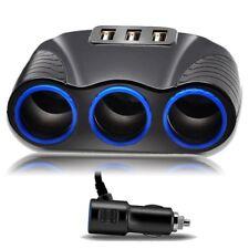 3 Wege 3.1A 12V 3 USB-Ladegerät Auto Zigarettenanzünder Steckdosenverteiler
