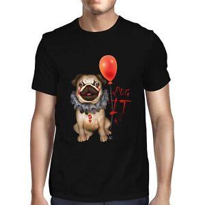 1Tee Mens Pug IT Clown T-Shirt