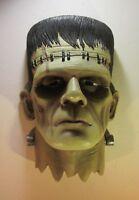 """Frankenstein Monster Head Bust Wall Mounted Sculpture 15.5"""" Tall"""