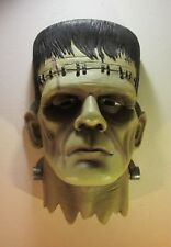 "Frankenstein Monster Head Bust Wall Mounted Sculpture 15.5"" Tall"