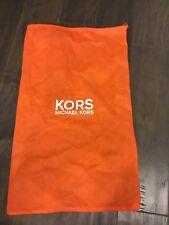 Michael Kors Women's drawstring bag NWOT new Orange Shoe Dust Bag
