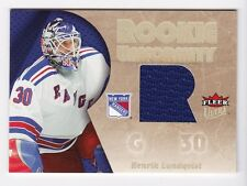 2005-06 NHL Fleer Ultra Rookie Uniformity Jerseys # RU-HL Henrik Lundqvist