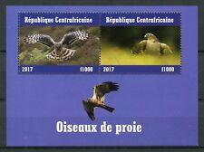 Central African Republic 2017 CTO Birds of Prey 2v M/S II Raptors Stamps