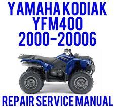 2000-2006 Yamaha KODIAK YFM400 Service Repair Shop Manual 400 - ON CD