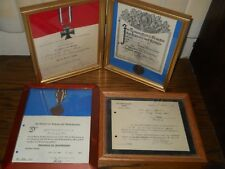 SUPER RARE SET OF 4 SAME NAMED CERTIFICATES & MEDALS WW 1 & 2 GREAT COLLECTION**