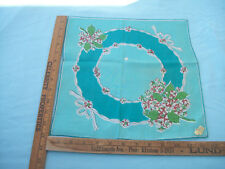 Vintage 1950'S Kimball Lily Of The Valley May Hankie Handkerchief W/Org.Paper