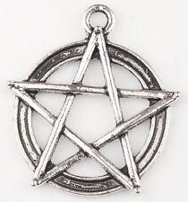 20Pcs Tibetan Silver Star pentagram Gothic DIY Charm Pendant 31*28mm