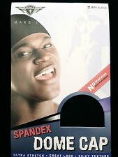 6 PACKS KING. J SPANDEX DOME CAP ULTRA STRETCH SILKY TEXTURE BLACK #071