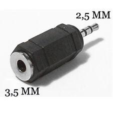 Adattatore riduttore audio jack aux da presa 3,5 mm a spina 2,5 mm stereo