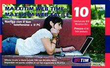 1505 SCHEDA TELEFONICA USATA RICARICA TIM MAXXITIM WEB-K GEN 2009 OCR 20 CAB 29