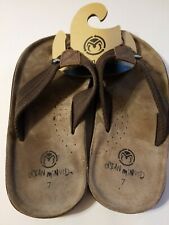 Ocean Minded Flip Flops Size 7 Sandals Environment Vegan Shoes