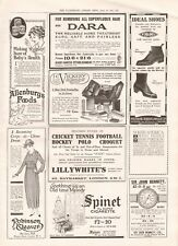 1918  ANTIQUE PRINT WW1 - ADVERT-LILLYWHITES, VICKERY DRESSING BAG,IDEAL SHOES