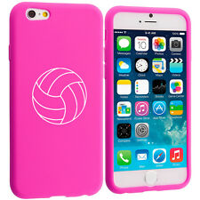 For Apple iPhone 4 4s 5 5s 5c 6 6s Silicone Soft Rubber Case Cover Volleyball