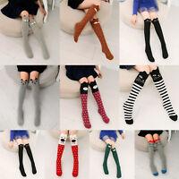 Baby Kids Toddler Girl Knee High Cotton Socks Tight Leg Warmer Stocking Age 3-12