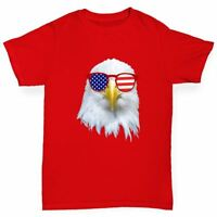 Twisted Envy American Flag Sunglasses Eagle Boy's Funny T-Shirt