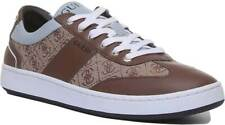 Guess Mens Synthetic Trainer Brown-Ex Display Size 42 EU