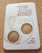 Italy 2015 'Dante' coin card
