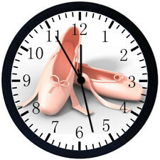 Ballet Shoes Black Frame Wall Clock Nice For Decor or Gifts Y121