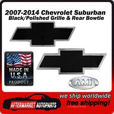 07-14 Chevy Suburban Black/Polished Bowtie Grille & Tailgate Emblem AMI 96108KP