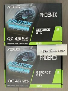 ASUS Phoenix NVIDIA GeForce GTX 1650 OC Edition 4GB GDDR6 Graphics Card GPU