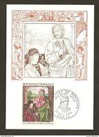 Carte Maximum France 1972 1°Jour: timbre n°1732 Maître de Moulins, cote 30€