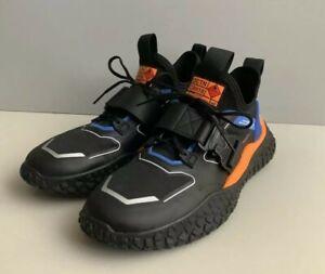 Puma HI OCTN Sports Design Black Blue Orange Low Lifestyle Sneakers Mens Sz 9.5