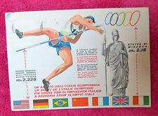 CARTOLINA SALUTI DALL' ITALIA OLIMPIONICA VIAGGIATA 1960 SUBALPINA QQ