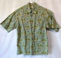 Vtg 90s  REYN SPOONER Mens Aloha Hawaiian Shirt 100% Regency Cotton Lawn Medium