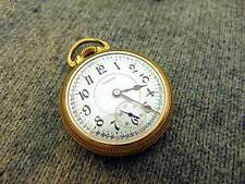 H4C Illinois BUNN SPECIAL 16s 23j 48hr Antique Railroad Pocket Watch c. 1921