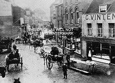 HYTHE STREET DARTFORD FLOODS IN 1895 VINTAGE PRINT MOUNTED KENT ANCESTRY