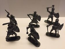 Rare Vintage lead figures of King Arthur And His Knights By Lone Star
