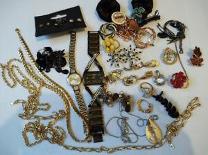 Costume Jewellery bundle /earrings/rings/ watches/necklace/bracelets