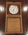 Vintage Wempe Chronometer Werke Hamburg Marine Clock Ship Quartz Clock #2444