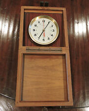 Vintage Wempe Chronometer Werke Hamburg Marine Clock Ship Quartz Clock #2444