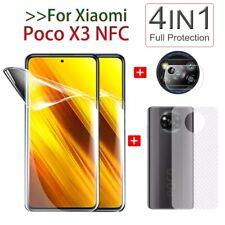 For Xiaomi Poco X3 NFC Back Carbon Fiber + Lens + Hydrogel Film Screen Protector