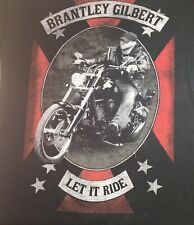 """2014 Brantley Gilbert """"Let It Ride"""" Concert Tour Size Small T-Shirt Tee"""