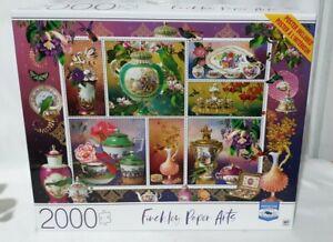 Finchley Paper Arts 2000 Piece Puzzle Birds Of Asia Milton Bradley Premium 32x24