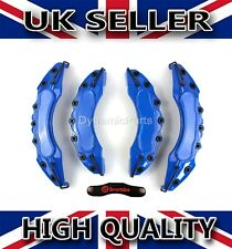 UNIVERSAL BRAKE CALIPER COVERS SET KIT FRONT & REAR BLUE ABS 4PCS