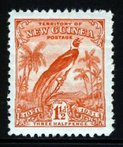 NEW GUINEA 1931 Bird of Paradise 1½d. Vermilion With Dates SG 151 MINT