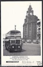 Lancashire Postcard - Liverpool Corporation A.E.C.Regent III Bus A6607