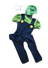 New Halloween Super Mario and Luigi Bros Fancy Dress Costume Plumber Size Small